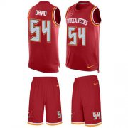 Wholesale Cheap Nike Buccaneers #54 Lavonte David Red Team Color Men's Stitched NFL Limited Tank Top Suit Jersey