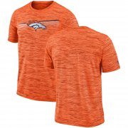 Wholesale Cheap Denver Broncos Nike Sideline Velocity Performance T-Shirt Heathered Orange