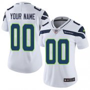 Wholesale Cheap Nike Seattle Seahawks Customized White Stitched Vapor Untouchable Limited Women's NFL Jersey