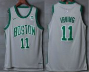 Wholesale Cheap Men's Boston Celtics #11 Kyrie Irving Grey 2017-2018 Nike Authentic General Electric Stitched NBA Jersey