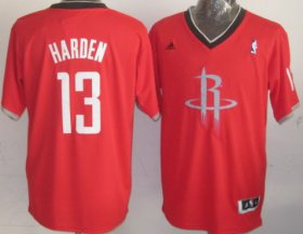 Wholesale Cheap Houston Rockets #13 James Harden Revolution 30 Swingman 2013 Christmas Day Red Jersey