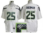 Wholesale Cheap Nike Seahawks #25 Richard Sherman White Men's Stitched NFL Elite Autographed Jersey