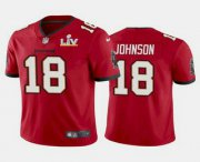 Wholesale Cheap Men's Tampa Bay Buccaneers #18 Tyler Johnson Red 2021 Super Bowl LV Limited Stitched NFL Jersey