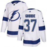 Cheap Adidas Lightning #37 Yanni Gourde White Road Authentic Stitched Youth NHL Jersey