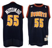 Wholesale Cheap Denver Nuggets #55 Dikembe Mutombo Navy Blue Swingman Throwback Jersey