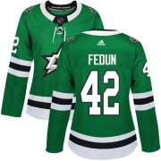 Cheap Adidas Stars #42 Taylor Fedun Green Home Authentic Women's Stitched NHL Jersey