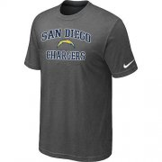 Wholesale Cheap Nike NFL Los Angeles Chargers Heart & Soul NFL T-Shirt Crow Grey