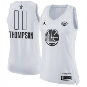 Wholesale Cheap Nike Golden State Warriors #11 Klay Thompson White Women's NBA Jordan Swingman 2018 All-Star Game Jersey