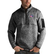 Wholesale Cheap Columbus Blue Jackets Antigua Fortune Quarter-Zip Pullover Jacket Charcoal