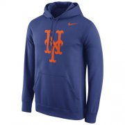 Wholesale Cheap New York Mets Nike Logo Performance Pullover Royal MLB Hoodie