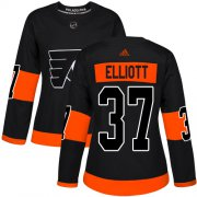 Wholesale Cheap Adidas Flyers #37 Brian Elliott Black Alternate Authentic Women's Stitched NHL Jersey