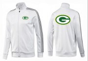 Wholesale Cheap NFL Green Bay Packers Team Logo Jacket White_3