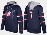 Wholesale Cheap Blue Jackets #7 Jack Johnson Navy Name And Number Hoodie