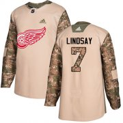 Wholesale Cheap Adidas Red Wings #7 Ted Lindsay Camo Authentic 2017 Veterans Day Stitched NHL Jersey