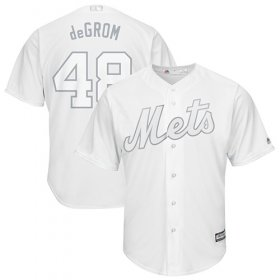 "Wholesale Cheap Mets #48 Jacob DeGrom White ""deGrom\"" Players Weekend Cool Base Stitched MLB Jersey"