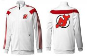 Wholesale Cheap NHL New Jersey Devils Zip Jackets White-2