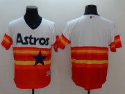 Wholesale Cheap Astros Blank White/Orange Flexbase Authentic Collection Cooperstown Stitched MLB Jersey