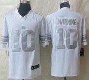 Wholesale Cheap Nike Giants #10 Eli Manning White Men's Stitched NFL Limited Platinum Jersey