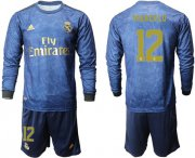 Wholesale Cheap Real Madrid #12 Marcelo Away Long Sleeves Soccer Club Jersey