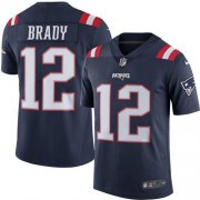 Wholesale Cheap Nike Patriots #12 Tom Brady Navy Blue Youth Stitched NFL Limited Rush Jersey