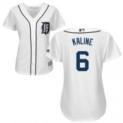 Wholesale Cheap Tigers #6 Al Kaline White Home Women's Stitched MLB Jersey
