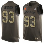 Wholesale Cheap Nike Browns #93 B.J. Goodson Green Men's Stitched NFL Limited Salute To Service Tank Top Jersey