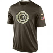 Wholesale Men's Chicago Cubs Salute To Service Nike Dri-FIT T-Shirt