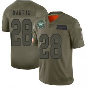 Wholesale Cheap Nike Jets #28 Curtis Martin Camo Youth Stitched NFL Limited 2019 Salute to Service Jersey