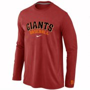 Wholesale Cheap San Francisco Giants Long Sleeve MLB T-Shirt Red