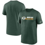 Wholesale Cheap Green Bay Packers Nike Fan Gear Team Conference Legend Performance T-Shirt Green