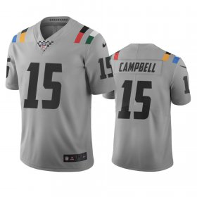 Wholesale Cheap Indianapolis Colts #15 Parris Campbell Gray Vapor Limited City Edition NFL Jersey