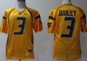 Wholesale Cheap West Virginia Mountaineers #3 Stedman Bailey Yellow Jersey
