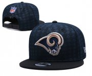 Wholesale Cheap Rams Team Logo Navy Black Adjustable Hat TX