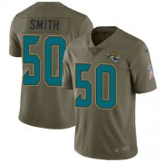 Wholesale Cheap Nike Jaguars #50 Telvin Smith Olive Youth Stitched NFL Limited 2017 Salute to Service Jersey