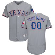 Wholesale Cheap Texas Rangers Majestic Road Flex Base Authentic Collection Custom Jersey Gray