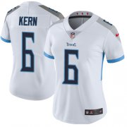 Wholesale Cheap Nike Titans #6 Brett Kern White Women's Stitched NFL Vapor Untouchable Limited Jersey