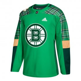 Wholesale Cheap Adidas Bruins Blank adidas Green St. Patrick\'s Day Authentic Practice Stitched NHL Jersey