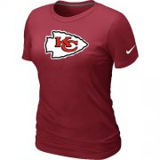 Wholesale Cheap Women's Nike Kansas City Chiefs Logo NFL T-Shirt Red