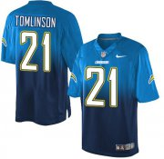 Wholesale Cheap Nike Chargers #21 LaDainian Tomlinson Electric Blue/Navy Blue Men's Stitched NFL Elite Fadeaway Fashion Jersey