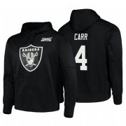 Wholesale Cheap Las Vegas Raiders #4 Derek Carr Nike NFL 100 Primary Logo Circuit Name & Number Pullover Hoodie Black