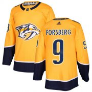 Wholesale Cheap Adidas Predators #9 Filip Forsberg Yellow Home Authentic Stitched NHL Jersey