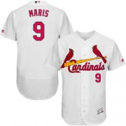Wholesale Cheap Cardinals #9 Roger Maris White Flexbase Authentic Collection Stitched MLB Jersey