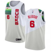 Wholesale Cheap Nike Bucks #6 Eric Bledsoe White NBA Swingman Earned Edition Jersey