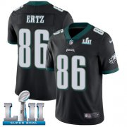 Wholesale Cheap Nike Eagles #86 Zach Ertz Black Alternate Super Bowl LII Men's Stitched NFL Vapor Untouchable Limited Jersey