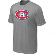 Wholesale Cheap Montreal Canadiens Big & Tall Logo Grey NHL T-Shirt