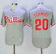 Wholesale Cheap Phillies #20 Mike Schmidt Grey Flexbase Authentic Collection Stitched MLB Jersey