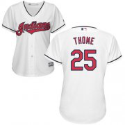 Wholesale Cheap Indians #25 Jim Thome White Home Women's Stitched MLB Jersey