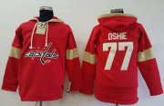 Wholesale Cheap Capitals #77 T.J Oshie Red Pullover Hoodie Stitched NHL Jersey