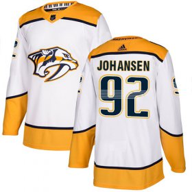 Wholesale Cheap Adidas Predators #92 Ryan Johansen White Road Authentic Stitched Youth NHL Jersey