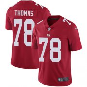 Wholesale Cheap Nike Giants #78 Andrew Thomas Red Alternate Men's Stitched NFL Vapor Untouchable Limited Jersey